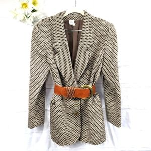 Donna Missoni RARE Vintage Brown/Cream Blazer